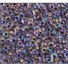 Ponybead 6/0 Color Lined Blue Iris Transparent Crystal